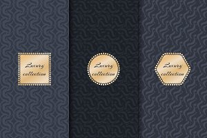 Set of luxury backgrounds