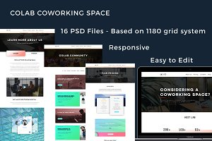 Colab - Responsive PSD Template