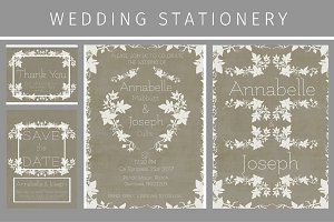 Ivy wedding Stationery