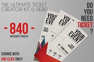 Ticket Creator Kit 840 Styles