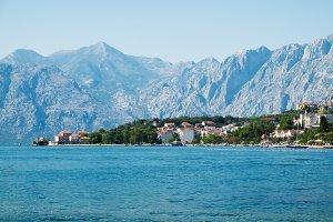 View of Kotor Bay near Dobrota