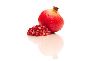 Pomegranate With Reflection