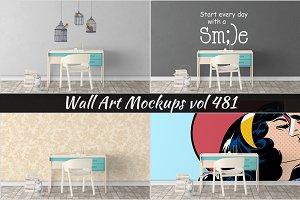 Wall Mockup - Sticker Mockup Vol 481