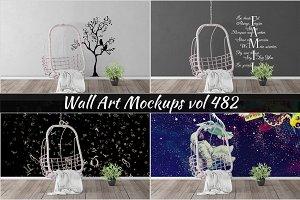 Wall Mockup - Sticker Mockup Vol 482