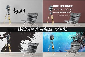 Wall Mockup - Sticker Mockup Vol 483