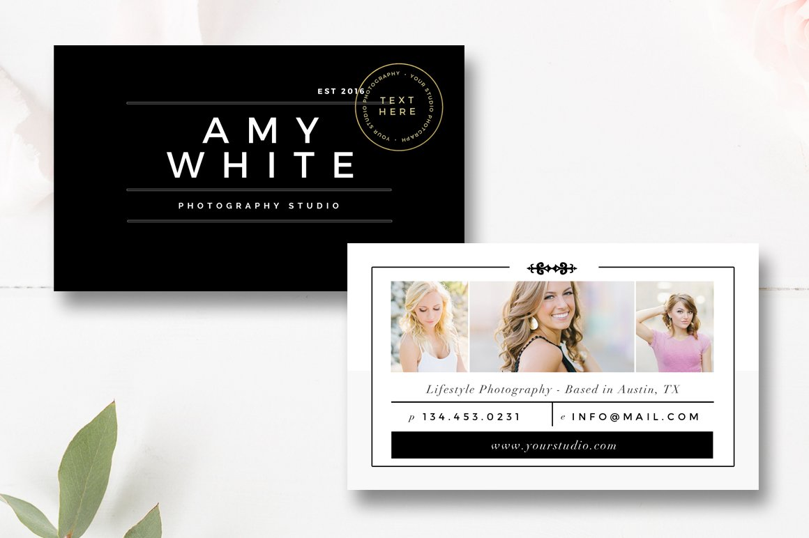 Senior photography business card business card templates for Photographer business cards templates