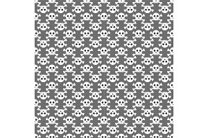 Grunge seamless pattern with skulls vector illustration human bone horror art dead face skeleton.