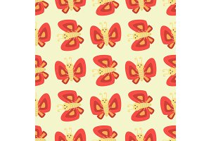 Colorful butterfly decorative seamless pattern vector graphic summer free fly present illustration.