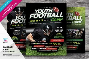 Football Camp Flyer Templates