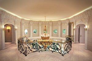 Classical Hallway 3Ds Max