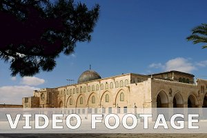 Al-Aqsa Mosque in Jerusalem timelapse