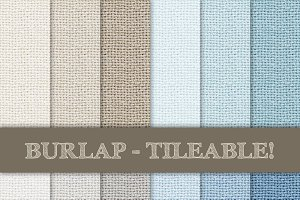 Burlap Textured Pattern - Tileable