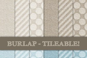 Burlap Tileable - Stripes & Dots