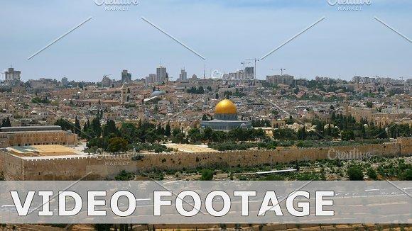 Jerusalem Panoramic Aerial View Time Lapse