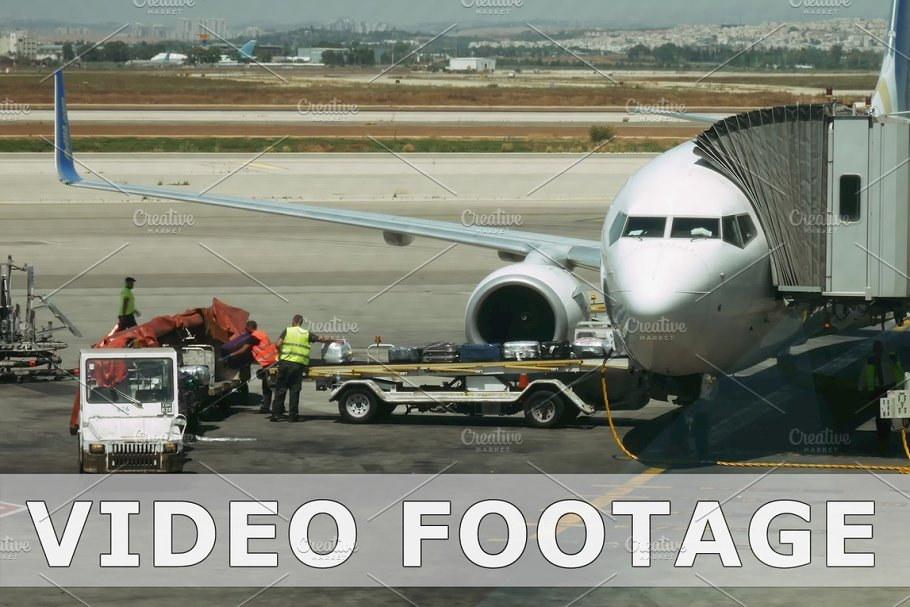Airliner boarding and unloading timelapse in Graphics - product preview 8