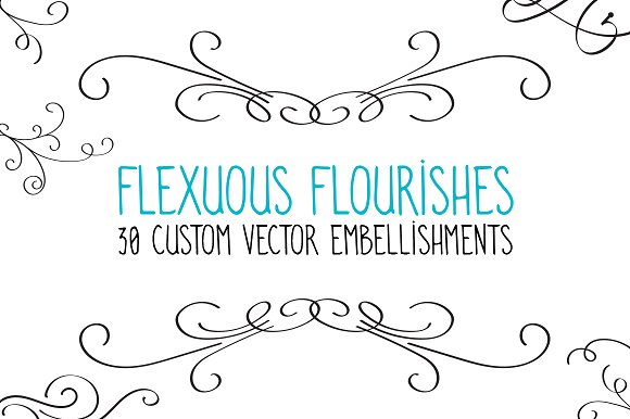 Flexuous Flourishes - Bundle of 30