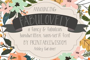 Fabulovely - a fancy sans-serif font