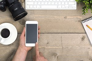 mobile web design office header