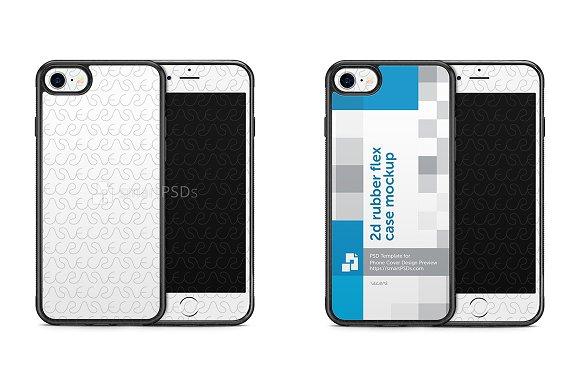 iPhone7 2d Rubber Phone Case Mockup
