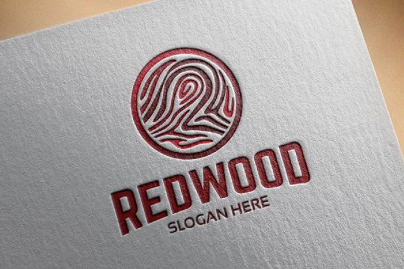 Circle Redwood Logo Template Designs