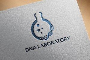 DNA Laboratory Logo designs Template