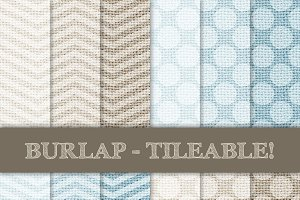 Burlap Tileable - Chevron & Dots