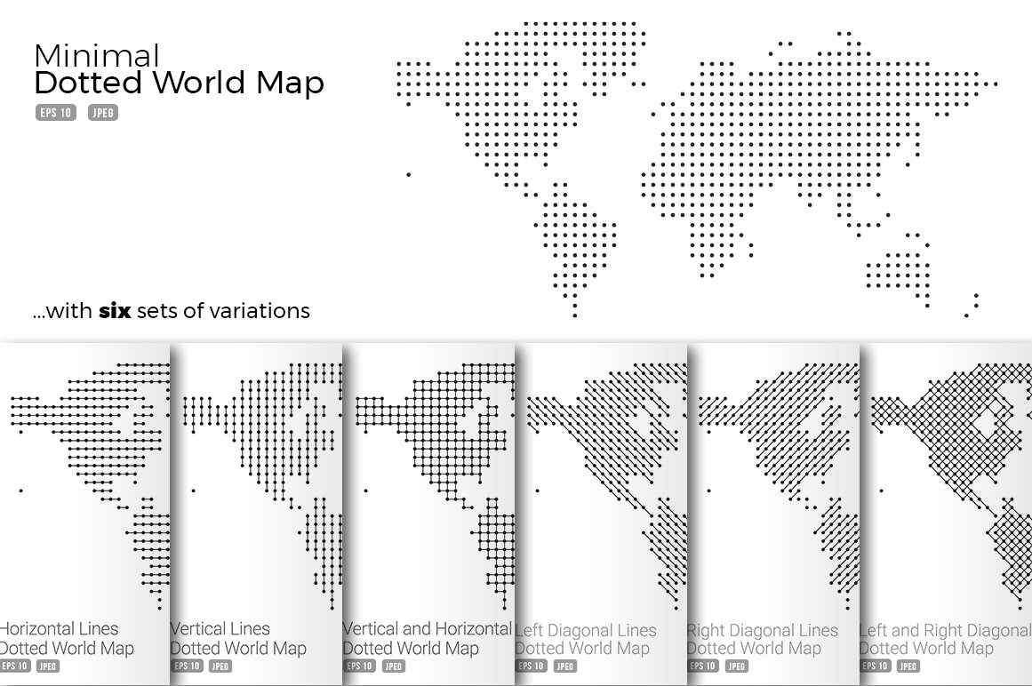 Minimal dotted map vector set web elements creative market gumiabroncs Image collections