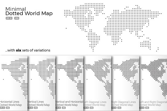 Minimal Dotted Map Vector Set ~ Web Elements ~ Creative Market