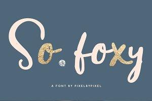 So Foxy Script Font