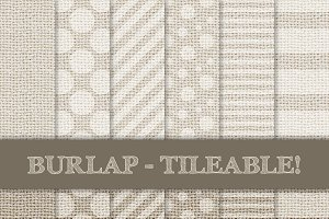 Burlap Digital Papers - Cream, Beige