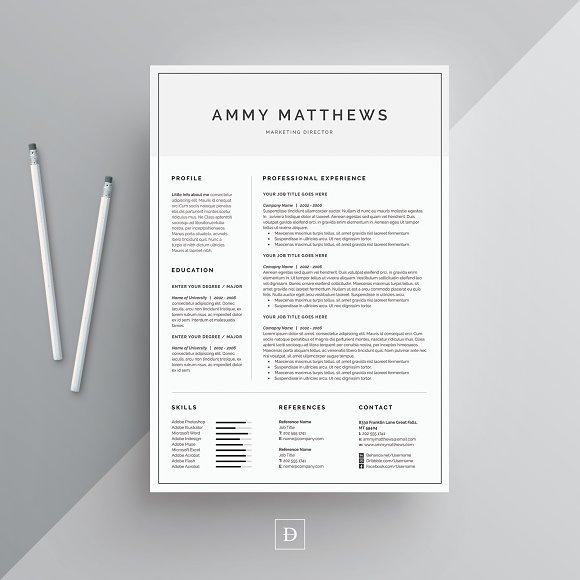 Word Resume & Cover Letter Template ~ Resume Templates ~ Creative Market