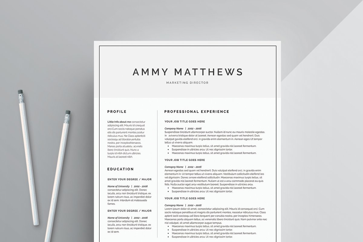 Word Resume & Cover Letter Template ~ Cover Letter Templates ...