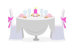 Wedding Table Decor Served with Luxury Plates