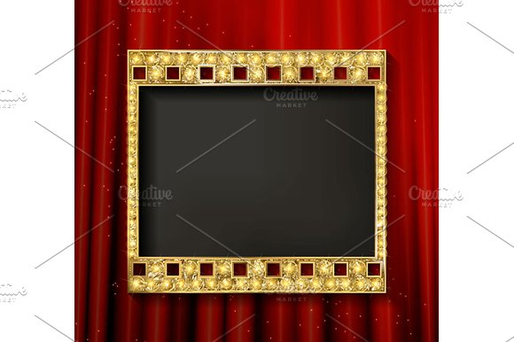 Gold film on the curtain backdrop. in Graphics - product preview 2