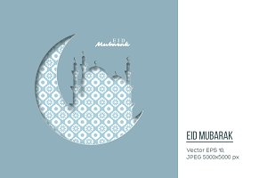 Eid Mubarak holiday background.