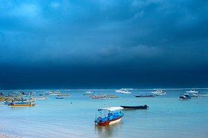 Storm on Bali island, Indonesia