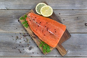 Season Salmon fillet for cooking