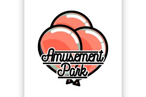 Amusement park emblem.
