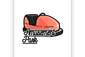 Amusement park emblem