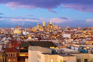 Madrid panoramic view, Spain