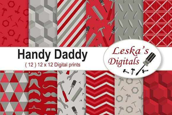 Father's Day Scrapbooking Red