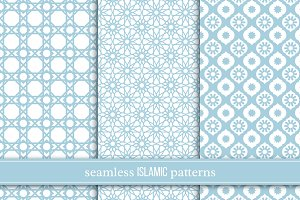 Seamless patterns in islamic style.