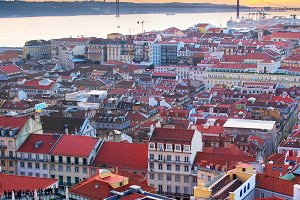 Lisbon at sunset. Portugal