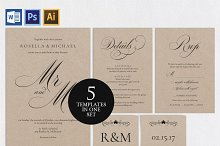 Wedding invitation set SHR141