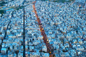 Tehran birds-eye view. Iran