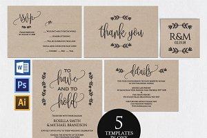 Wedding invitation set Wpc 144