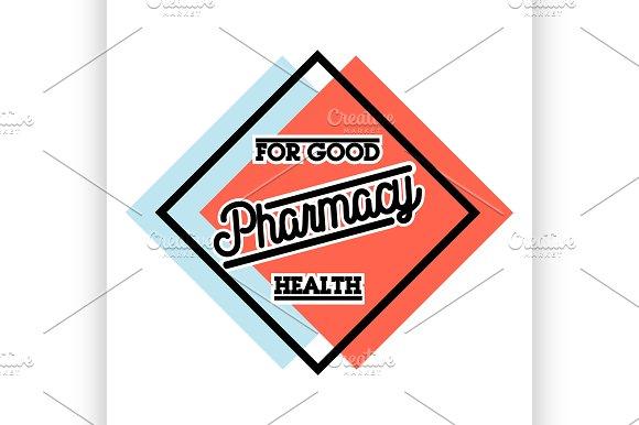 Color Vintage Pharmacy Emblem
