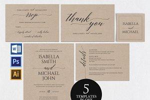 Wedding invitation set Wpc 145