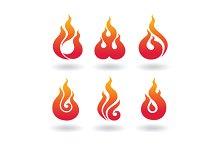 decorative  flame set2