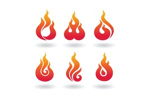 decorative  flame set2